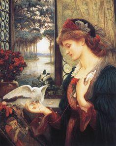 Love's Messenger by Marie Spartali Stillman