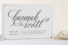 Fanciful Names Foil-Pressed Wedding Invitations by carly reed at minted.com