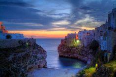 Early sunrise in Polignano a Mare,  Puglia, Italy