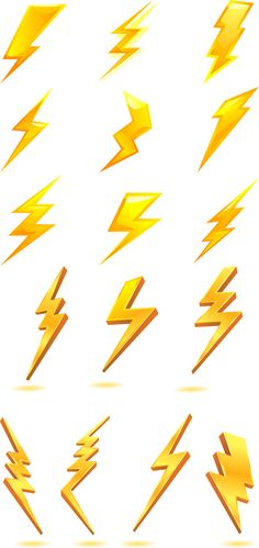 Golden lightning bolt icon<<<< first one in the second row looks like Harry Potter's, right?