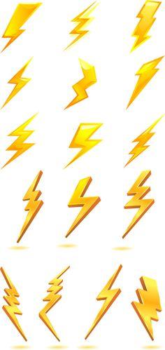 Golden lightning bolt icon