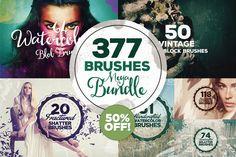377 Brushes Megabundle by Layerform on Creative Market