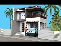 Small Modern 2 Level House with Interior Walkthrough House Design 3d, Home Map Design, Best Modern House Design, House Front Design, Home Design Plans, Duplex Design, Beautiful Small Homes, Small Modern Home, Style At Home
