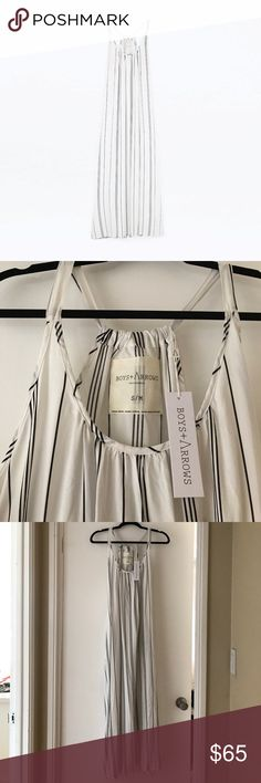 Boys and arrows maxi dress Black and white striped maxi dress Boys + Arrows Dresses Maxi