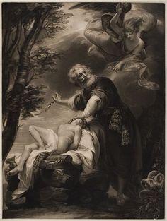 Robert Dunkarton -   British (1744 - before 1817) .  Abraham's Sacrifice.  Print.  Mezzotint.  Harvard Art Museums/Fogg Museum