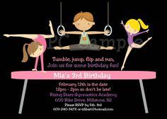 Free printable birthday party invitations gymnastics 2019 reagans gymnastics birthday invitation gymnastics birthday party invitations boy girl printable digital invite 1500 via filmwisefo Images
