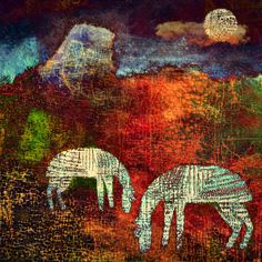 The Old Cells Studio - Michèle Brown Art: Gentle Night Mares - iPad painting