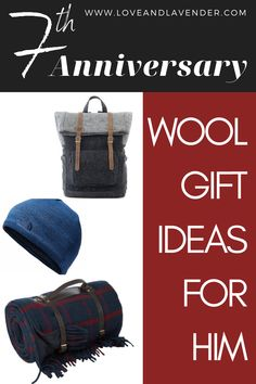 Celebrate your 7th anniversary with a unique wool gift for your husband and keep the love cozy and warm for years to come!   #anniversarygiftideas #weddinganniverasry #anniversarygifts #woolanniversarygifts