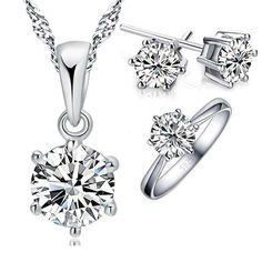 Snowflake Crystal Jewelry Set