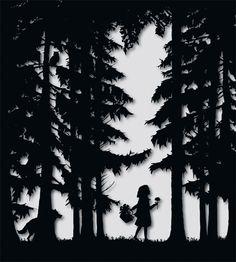 Little Red Riding Hood: Cut Out - Laura Barrett - London Based Freelance Silhouette & Pattern Illustrator - Illustration Portfolio
