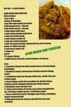 Ayam masak kari Pakistan
