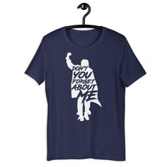 Breakfast Club John Bender Don't you Forget about me Retro 80s Movie T-Shirt - Navy / XL