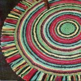 Practical, functional, and easy to crochet!  This crocheted round rug can be…
