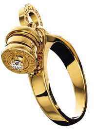 cd8f938bd54343 Bvlgari 18 Ct Yellow Gold with Diamond Ring Bulgari Jewelry