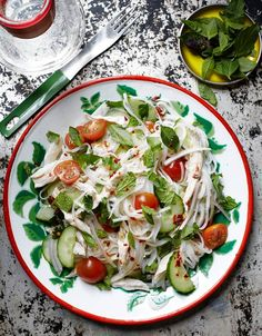 Kin Khao's Recipe for Thai Chicken and Rice Noodle Salad