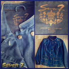 "⤵️😳Amazing Seven 7, Luxe Retro Jacket SZ Large❗️ 👛 Super Cute Seven 7 All Mankind Denim Rockin Jacket! Amazing detail and hardware and gorgeous stitching💋 Soooo liken New❤️❤️ Measurements Bust Across Front 24"",  Sleeve 24"",  Shoulder to Hem 25"".❤️ Made of 63% Cotton, 35% Polyester, 2% Spandex is really Gorgeous and has some stretch but not too much❤️❤️🚨🚨 Retail $278.00. Asking reasonable price❤️❤️❤️ Size Large 18/20 EUR 🚨Marked down 24 Hours😳🚨⤵️😜🚨🚨🚨 Seven7 Jackets & Coats Jean…"