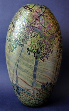 Trees Ovoid by Richard Golding http://www.bwthornton.co.uk/isle-of-wight-richard-golding-bath-aqua-glass.php