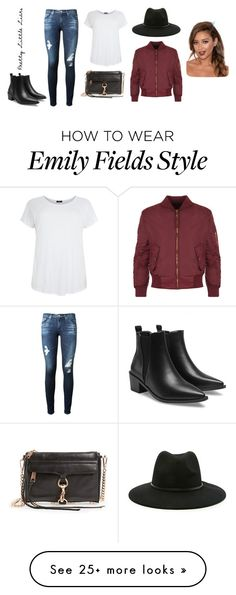 """Emily Fields Grown Up"" by kassti on Polyvore featuring AG Adriano Goldschmied, WearAll, Rebecca Minkoff, Forever 21, pll, fashionset and EmilyFields"