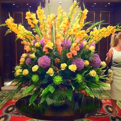 Lobby flowers @ The Lanesborough Hotel