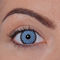"""A contact that doesn't fit correctly can do so many harmful things to the eye, even if it is worn """"just for a night. Cool Contacts, Cat Eye Contacts, Colored Eye Contacts, Halloween Contacts, Halloween Eye Makeup, Halloween Eyes, Custom Contact Lenses, White Contact Lenses, Eye Contact Lenses"""
