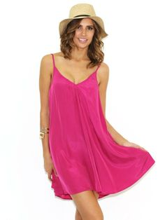 Pink Stitch Short Resort Dress in Magenta   http://www.shopstyle.com/action/apiVisitRetailer?id=446053604&pid=uid8900-23292170-8