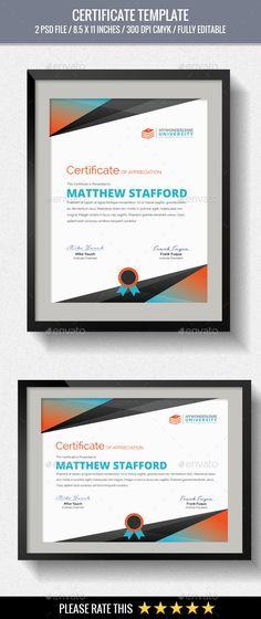 Certificate Certificate, Template and Certificate design - corporate certificate template
