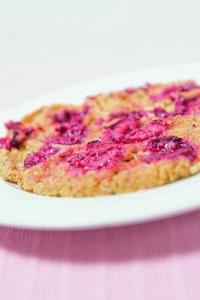 Himbeer-Pancakes mit Kichererbsenmehl