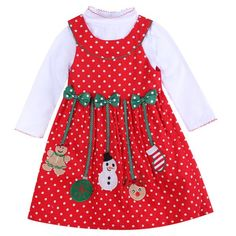 ff71b2496cf2 Girls Christmas Red Dot Dress. Tutu DressesParty ...