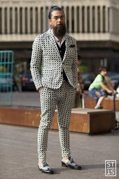 Street Fashion during Pitti Uomo 88 for WGSN