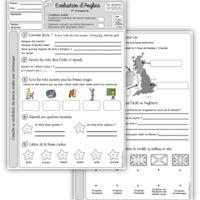 Evaluations d'anglais CE2 et CM1 English Fun, English Lessons, French Education, Teaching Kids, Language, Bullet Journal, Learning, School, Images