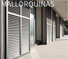Mallorquinas - Persianas PERSAX Stairs Window, Window Shutters, Doors And Floors, Windows And Doors, Indoor Outdoor Furniture, Outdoor Rooms, Door Design, House Design, Garage Guest House