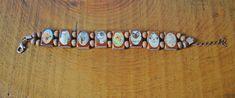 Vintage Wood Bracelet Vintage Handmade Dogs And Cats Wood Bracelet, Vintage Wood, Dog Pictures, Gifts For Mom, Turquoise Bracelet, Mothers, Dog Cat, My Etsy Shop, Beaded Bracelets