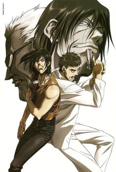 Gungrave:    A top, top anime!  A mafia-story (think Blow or Scarface style), about two best friends who get caught up it that world.  Epic, deep story, characters, fantastic plot twists - has to be in top 10 of all time!