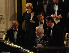 Queen Elizabeth and Prince Philip were out until almost 11pm on Monday evening as they dined at the exclusive Cavalry and Guards club in Mayfair