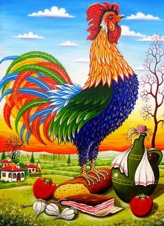 Serbia ~ Zoran Zaric ~ Rooster on Bread