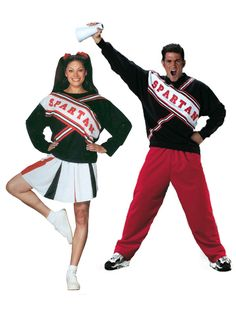 Snl Spartan Cheerleaders Adult Couples Costume #couple #couplecostumes #halloweencostumes