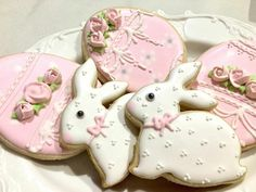 Bunny and Egg Cookies for Baby Showers or Birthdays 12 pieces image 0 No Egg Cookies, Baby Cookies, Baby Shower Cookies, Easter Cookies, Royal Icing Cookies, Birthday Cookies, Cupcake Cookies, Sugar Cookies, Easter Cupcakes