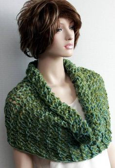 Check out this item in my Etsy shop https://www.etsy.com/listing/210131342/green-infinity-scarf-shoulder-wrap