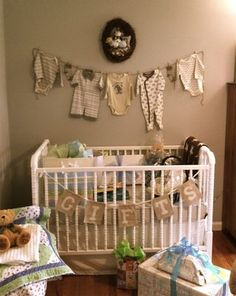 Such a cute idea for nursery decor, and baby shower gifts