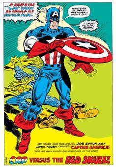 Captain America, art by Frank Robbins, 1974 Captain America Face Paint, Captain America Images, Captain America Comic, Comic Book Artists, Comic Book Characters, Marvel Characters, Comic Books Art, Comic Art, Jack Kirby
