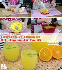 Videolu anlatım 1 Portakal 1 Limon ile Limonata Tarifi nasıl yapılır? 36.840 kişinin defterindeki bu tarifin videolu anlatımı ve deneyenlerin fotoğrafları burada. Yazar: Elif Atalar
