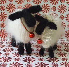 Looking for your next project? You're going to love Christmas Lamb Ornaments by designer ViolaSueKnits.