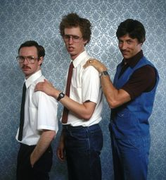 Kip, Napoleon Dynamite & Uncle Rico... i love that movie. look at napoleons face!!! XD