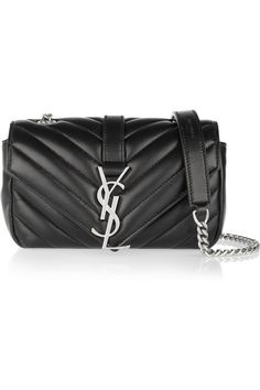 yves saint laurent baby chain monogramme quilted leather shoulder bag