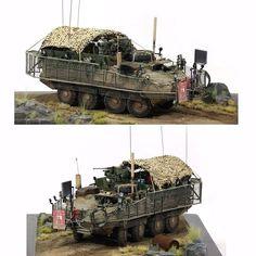 M1126 Stryker w/Slat Armor By: Young-gyun Kim From: Modern AFV Modeling Club  #usinadoskits #udk #stryker #miniatura #miniature #plastimodelismo #dio #diorama #dioramas #war #guerra #plasticmodel
