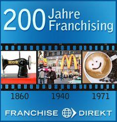 """Seit wann gibt es McDonalds in Deutschland? Wann hat das erste Starbucks-Cafe aufgemacht? Wann wurde der Begriff """"Franchise"""" überhaupt zum ersten Mal verwendet? In der neuen Timeline auf Franchise Direkt finden Sie die Antwort: http://www.franchisedirekt.com/information/einfuhrungindasfranchising/interaktivetimeline200jahrefranchising/38/1544/"""