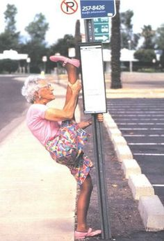 Wow! We can certainly aspire to such antics! Even if you aren't quite this flexible, movement and exercise are a great way to keep healthy. #health #healthiswealth
