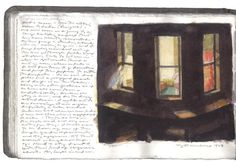 Edward Hopper    ~ sketches for Night Windows (1928)