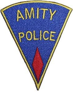 75ac53da888791 Jaws Amity Police Red Badge Embroidered Patch 5