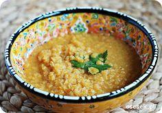 Pomarańczowa zupa z soczewicy po 12 miesiącu. więcej na www.osesek.pl